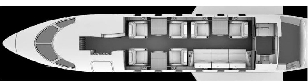 2013 CHALLENGER 300 Floorplan